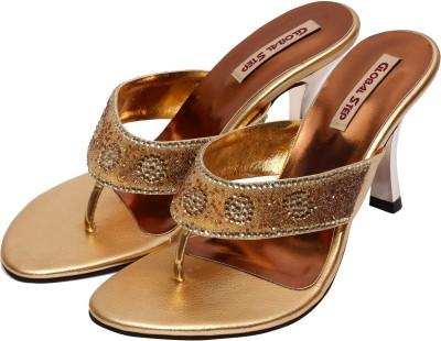Global Step Women Gold Heels
