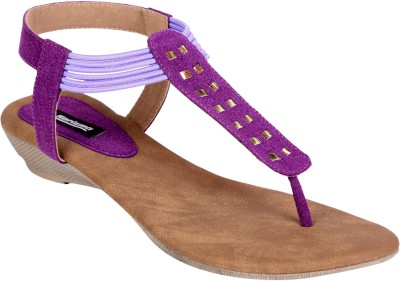 karizma shoes Women Purple Flats