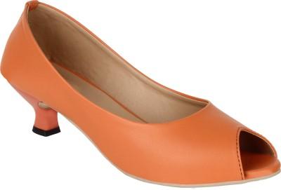 Glitzy Galz Women Orange Heels