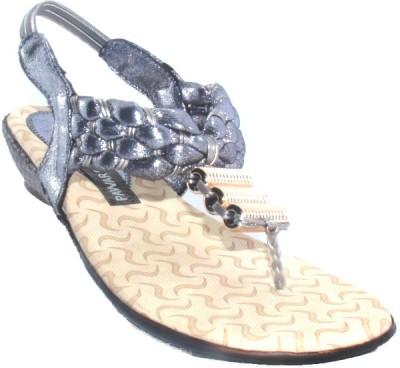 PAWAR Women Silver Flats