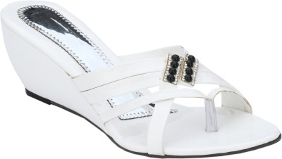 Collection13 Women White Wedges