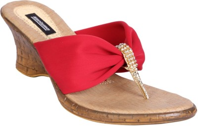 karizma shoes Women Red Wedges