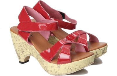 Nell Women RED Wedges at flipkart