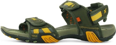 Sparx Men Olive, Yellow Sandals