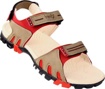 VKC Trendz Men Beige, Brown, Red Sandals