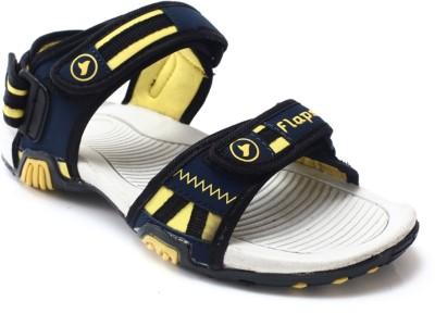 Flaps Men Navy, Yellow Sandals