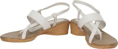Baba Enterprises Women White, Beige Heels