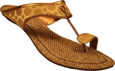 Mas Women Black, Gold Flats