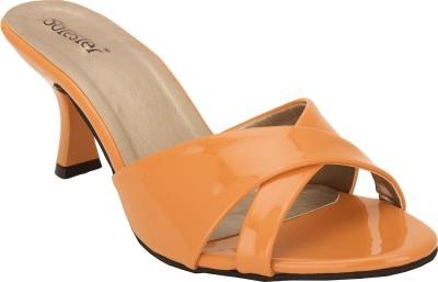 Solester Women Orange Heels