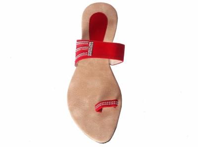 Tatter Angel Women Red Flats