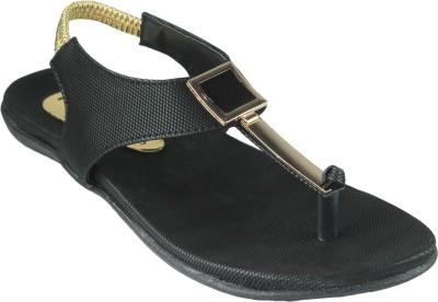 Leatherworld Women Black Flats