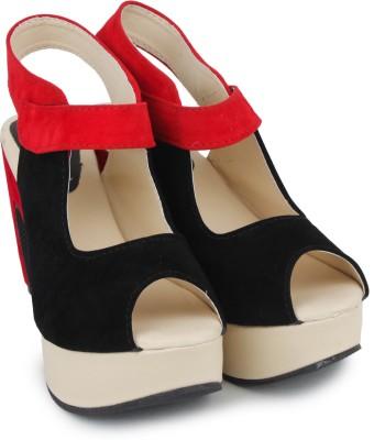 Shoetopia Women Red Wedges