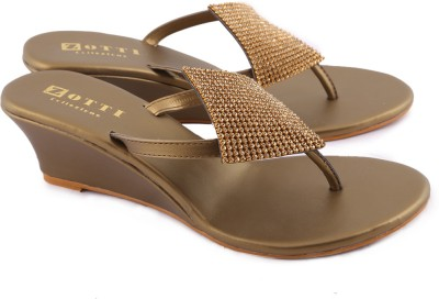Zotti Sparkle Women Brown Wedges