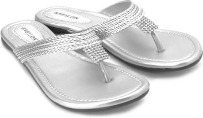 Babylon Women Silver Flats