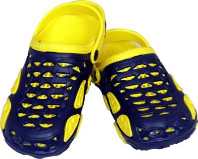Pu Assma Girls, Boys Navy, Yellow Sandals