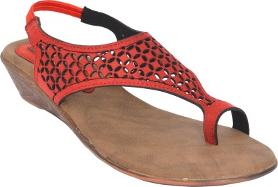 Footsy Women Red Wedges