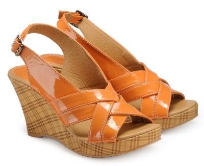 Nell Women Orange Wedges