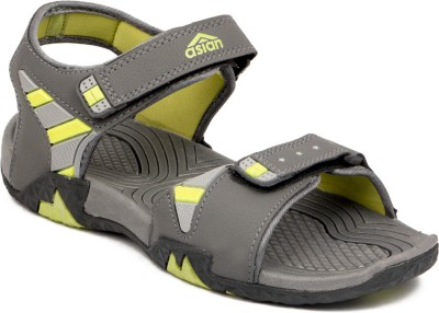 ASIAN Men Grey, Green Sandals