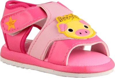 FabSeasons Baby Boys, Baby Girls Pink Sandals
