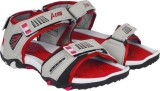 Aero Men BLK::RED::LGRY Sandals