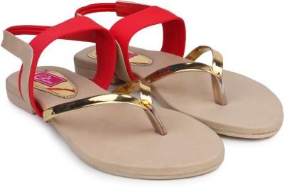 Queen Steps Women Red Flats
