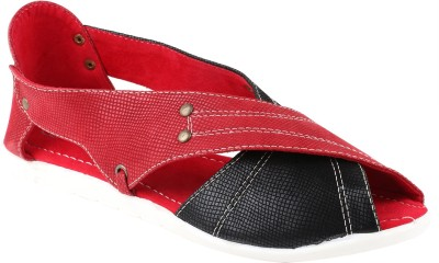 Exotique Women Red, Black Flats
