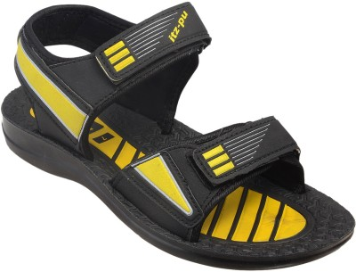 ITZ-PU Men Black Sandals