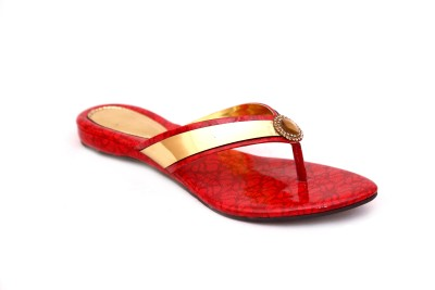 Unmatched Identity Women Red Flats