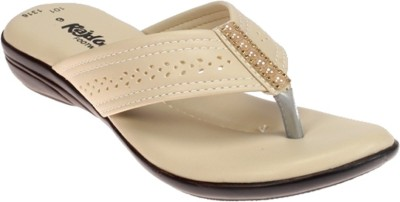 Rajdoot Women Beige Flats