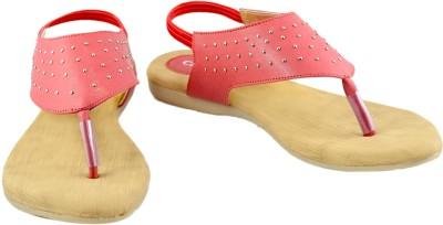 Canvera Women Red Flats