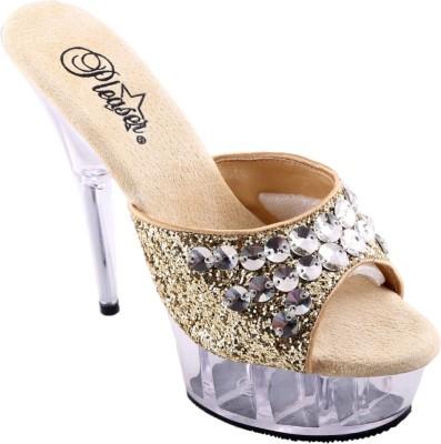 Pleaser Women Gold Heels