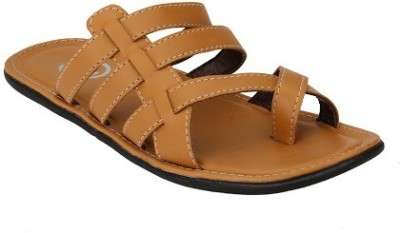 Jacs Shoes Men Beige Sandals