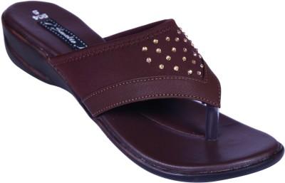Smalto Women Brown Flats