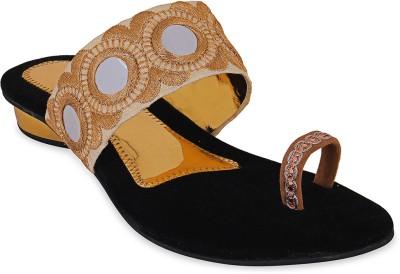 Ridhi Sidhi Women Gold Heels
