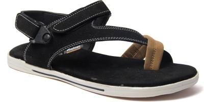 Binutop Men Black Sandals
