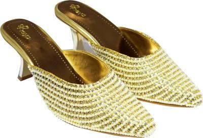 Ajanta Women Gold Heels