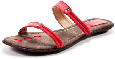 Beyond Monday Modesty Women Red Flats
