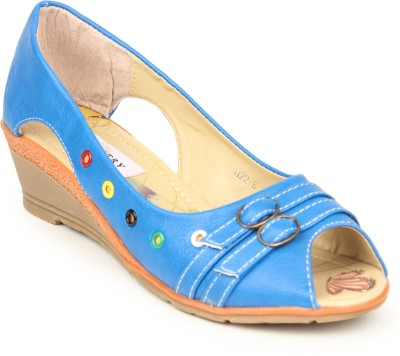Stylistry Women Blue Wedges