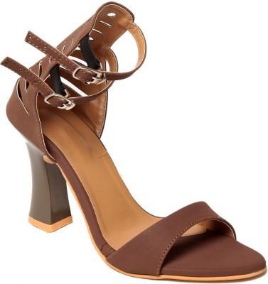 Adorn Women Brown Heels