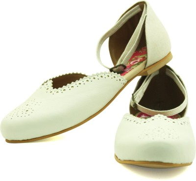 Rhythm & Shoes Women White Flats