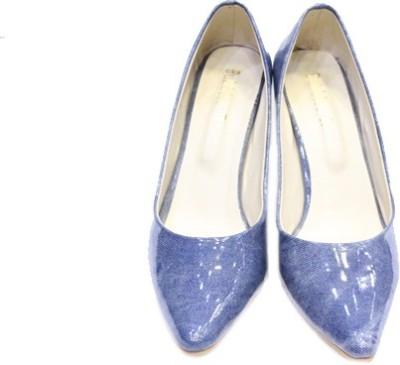 Skyla Women Blue, Beige Heels