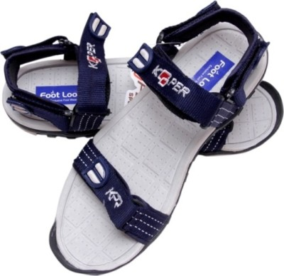 Footlooks Boys Blue, Grey Sandals
