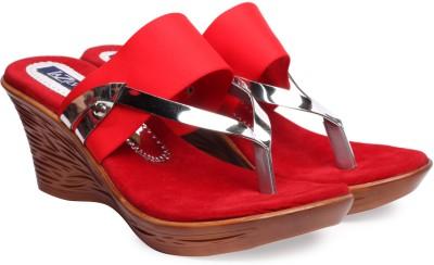 La Zilver Women Red Wedges