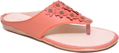 Womens Club Women Orange Flats