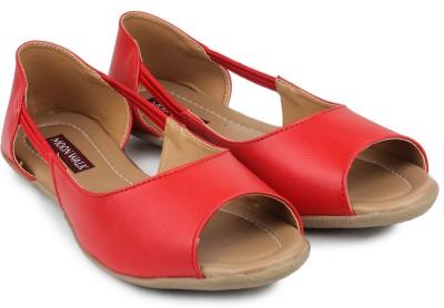 Moonwalk Women Red Flats