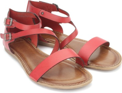 Clarks Theme Tune Women Red, Brown Flats