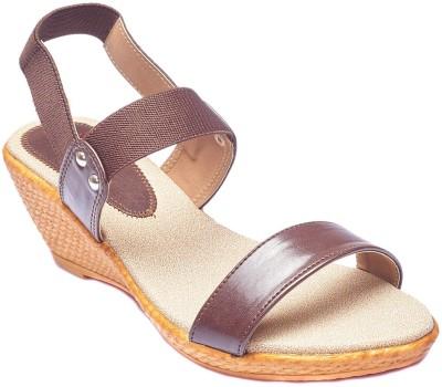 Foot Furnish Girls, Women Brown, Tan, Beige Wedges