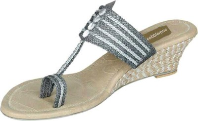 Cobblerone Women Grey Wedges
