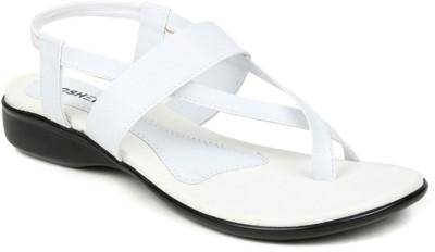 Kosher KLSS029-WHITE Women White Flats