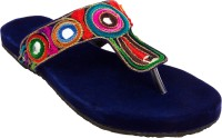 Footrendz Women Dark blue; pink; brown; orange Flats